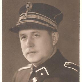 Portretfoto inspecteur Louis Berten (1903-1986), 1945 (uit: privécollectie)