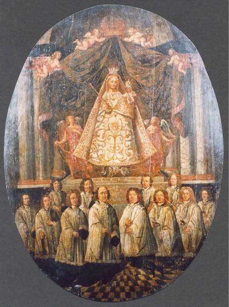 Broederschapspaneel O.-L.-Vrouw Virga Jesse, 1709 (collectie Het Stadsmus Hasselt)