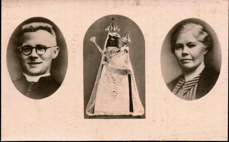 Doodsprentje (vz) E.H. Hubrechts en Maria-Helena Hubrechts, 1944 (privécollectie Dominique Creyns)