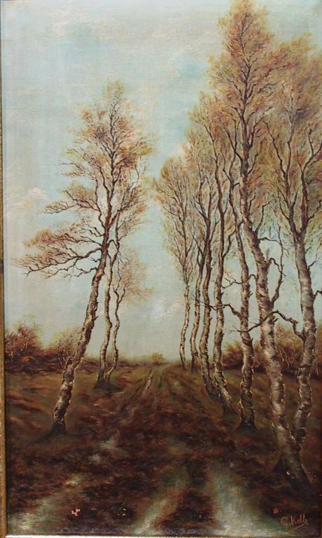Dreef met berken, Georges Kolb (1889-1969) (collectie Het Stadsmus Hasselt, inv.nr. 2007.0115.00)