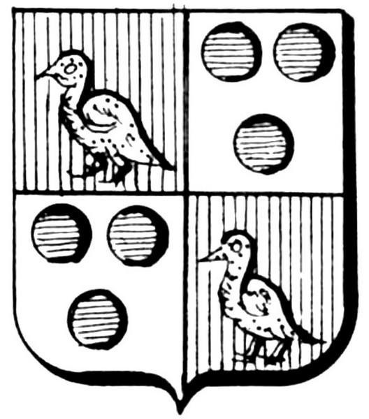 Familiewapen Heckeleers (uit: Het Belang van Limburg, 22-09-1979, p. 43)