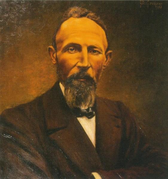Olieverfportret Eugeen Leën (1862-1932) (privécollectie)