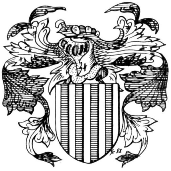 Familiewapen van Nitsen (uit: Het Belang van Limburg, 10-07-1982, p. 33)