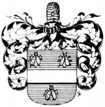 Familiewapen Ambrosy (uit: Het Belang van Limburg, 11-10-1975, p. 31)
