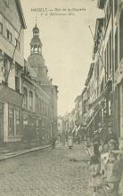 Prentbriefkaart 'Rue de la Chapelle', Pieter Gerard Ballewijns (collectie Stadsarchief Hasselt, nr. 1006)