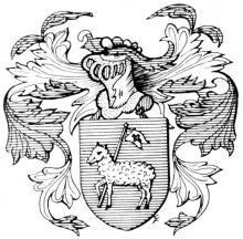 Familiewapen Bamps, burgemeester 16de eeuw (uit: Het Belang van Limburg, 31-07-1982, p. 30)