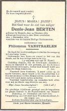 Doodsprentje Denis-Jean Berten (1852-1932) (uit: privécollectie)