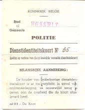 Politiekaart van Louis Berten, 1943, verso (uit: privécollectie)