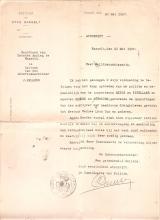 Schriftelijke felicitaties van onderzoeksrechter Kellens voor Louis Berten (1903-1986)
