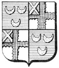 Familiewapen Bosquet (uit: Het Belang van Limburg, 10-03-1979, p. 47)