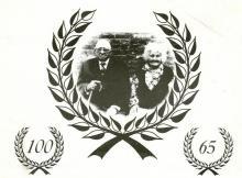 Briljanten huwelijksjubileum Leonard Vanvoorden en Marie Bosmans, 1985 (uit: Kuringen Sint-Jansheide Schimpen Tuilt Stokrooie / Warm aanbevolen (2004))