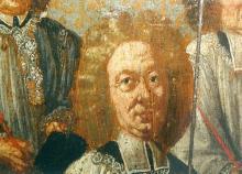 Portret Gerard van Hilst (uit: Broederschapspaneel O.-L-Vrouw Virga Jesse, 1709 - collectie Het Stadsmus Hasselt)