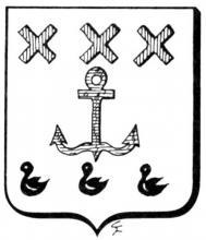 Familiewapen Brouckmans (uit: Het Belang van Limburg, 25-01-1975, p. 31)