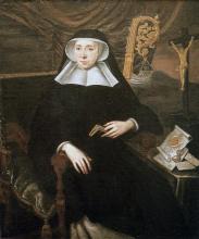 Olieverfportret Claudia de Merode, abdis Herkenrode (1675-1702) (collectie Het Stadsmus Hasselt - bruikleen kerkfabriek Sint-Gertrudis Kuringen)