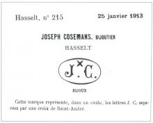 Firmamerk Joseph Cosemans (Hasselt 1880-1956), 1913 (uit: Hasselts Zilver (1996), p. 230)