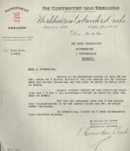 Brief 'De Gieteryen van Zeelhem' (Stadsarchief Hasselt)