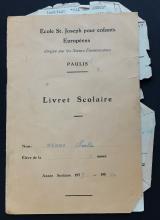 Fam. Henno, Congo, schoolboekje (foto: privécollectie)