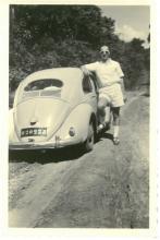 André Billen met de volkswagen (foto: privécollectie)