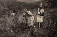 Familie Melotte-Coenen in Congo: Joseph Melotte als landmeter, 1953-1956 (foto: privécollectie)