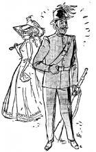Ge kwaamt in die tijd graag genoeg op de stoep staan, om mij in de «peloton d'instruction» te zien voorbij marcheren. (uit: Dat was de Garde Civique (I) / Soldaten met de Bolhoed uit de Tijd van de grote Bak (1954))