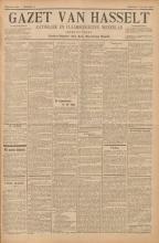 Voorpagina 'Gazet van Hasselt'