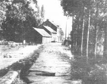 Herk buiten zijn oevers / Ook bij de Elsartmolen (uit: Het Belang van Limburg, 23-07-1980, p. 8)