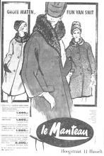 Advertentie 'Le Manteau', Hoogstraat 11 (uit: Het Belang van Limburg, 25-01-1963, p. 16)
