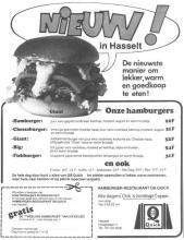 Advertentie'Nieuw in Hasselt - Hamburgers Quick', Hoogstraat 11 (uit: Het Belang van Limburg, 19-07-1978, p. 11)