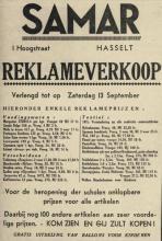 Advertentie 'SAMAR', Hoogstraat 1 (uit: Het Belang van Limburg, 10-09-1952, p. 8)
