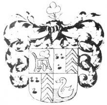Familiewapen Houwen (uit: Het Belang van Limburg, 21-02-1976, p. 31)