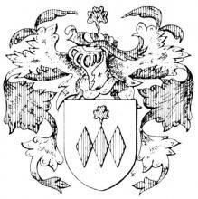 Familiewapen Janssens, burgemeester 18de eeuw (uit: Het Belang van Limburg, 17-04-1982, p. 43)