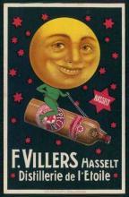 Affiche 'Distillerie de l'Etoile', F. Villers Hasselt (collectie Jenevermuseum Hasselt)