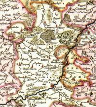 Kaart graafschap Loon