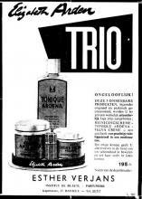 Advertentie 'Institut de Beauté - Parfumerie Esther Verjans', Kapelstraat 57 (uit: Het Belang van Limburg, 25-10-1959, p. 13)