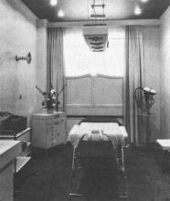 Knus en komfortabel salon met solarium voor lichaams- en aangezichtsverzorging in het Schoonheidsinstituut Verjans te Hasselt. (uit: Schoonheid in de superlatief bij Verjans-Hasselt (1975))