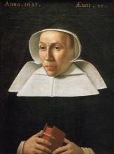 Olieverfportret Margareta de Berghes, abdis Herkenrode (1620-1637) (collectie Huize Herkenrode - bruikleen kerkfabriek Sint-Gertrudis Kuringen)