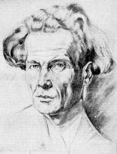 Jan Melis, naar een tekening van Leon Tomsin (1946) (uit: Pionier van het Vlaamse jeugdboek Jan Melis vandaag zeventig jaar (1972))