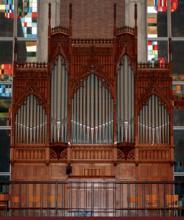 Orgel Cavaillé-Coll in de Heilig Hartkerk (uit: Orgelgids (2005), p. 21)