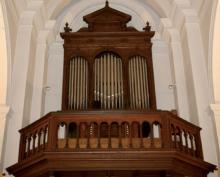 Orgel Sint-Amanduskerk Stokrooie (uit: Orgelgids Hasselt (2005), p. 81)