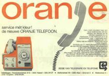 Advertentie 'Nieuwe Oranje Telefoon', Paardsdemerstraat 8-10 (uit: Het Belang van Limburg, 03-03-1976, p. 44)