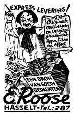 Advertentie 'Ernest Roose' (uit: Het Belang van Limburg, 16-04-1938, p. 10)
