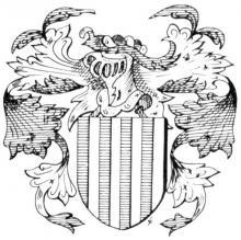 Familiewapen van Schwartzenberg(h) (uit: Het Belang van Limburg, 02-10-1982, p. 41)