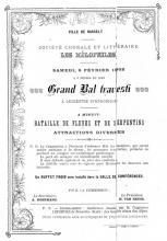 Aankondiging van een van de activiteiten van de Hasseltse vereniging de Société des Mélophiles, 1902, gedrukt door Leonard Crollen. (uit: Drukkend Hasselt (2003), p. 30)