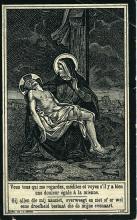 Doodsprentje (vz) Diederik Spaan (1895-1917), druk. J. Ceysens Hasselt (collectie Stadsarchief Hasselt)