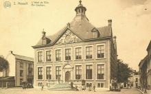 Stadhuis, Groenplein, ca. 1900, prentbriefkaart (collectie Stadsarchief Hasselt)