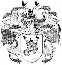Familiewapen Stouten, burgemeester 16de eeuw (uit: Het Belang van Limburg, 31-07-1982, p. 30)