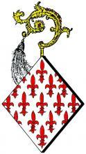 Wapen Elisabeth van Kerckom, abdis Herkenrode (1433-1442) (uit: Wapenboek (2004), p. 37)