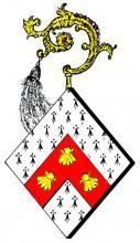Wapen Beatrix van Lobosch, abdis Herkenrode (1341-1354) (uit: Wapenboek (2004), p. 27)