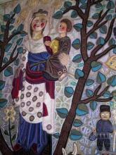 Geschenk van de Hasselaar - wandtapijt (centraal deel) Simone Reynders 1989 (foto: collectie Virga Jessecomité)