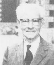 Portretfoto Laurent Withofs (1891-1976) (uit: Laurent Withofs overleden te Genk / N.V.I.-Limburg verliest haar ere-voorzitter (1976))